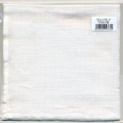 画像1: [8943] リネンハンカチ 白 約35cm×35cm 加工:日本