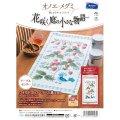 [9004] オリムパス オノエ・メグミ 刺しゅうキットシリーズ 花咲く庭の小さな物語 テーブルセンター ワイルドストロベリーと鳥 1203