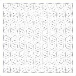 画像1: [9091] DARUMA 刺し子ふきん 模様刺し(伝統柄) 寄木 白1007