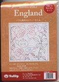 [9180] Tulip 花ふきん SASHIKO WORLD  England バラに囲まれたティータイム KWS-025