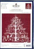 [9348] DMC クロスステッチキット クリスマスツリー レッド