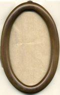 [1081] 楕円額 小 16.5cm×9.5cm 淡い茶