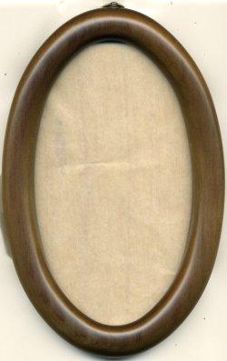 画像1: [1081] 楕円額 小 16.5cm×9.5cm 淡い茶