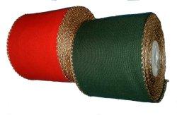 画像1: [2053] 刺しゅうアイーダテープ 12cm幅 クリスマスレッド