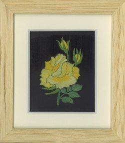 画像1: [1145] ミニ額キット Q−53 薔薇一枝